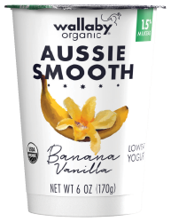 Wallaby Banana Vanilla Organic Low Fat Yogurt