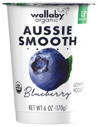 Wallaby Blueberry Organic Low Fat Yogurt
