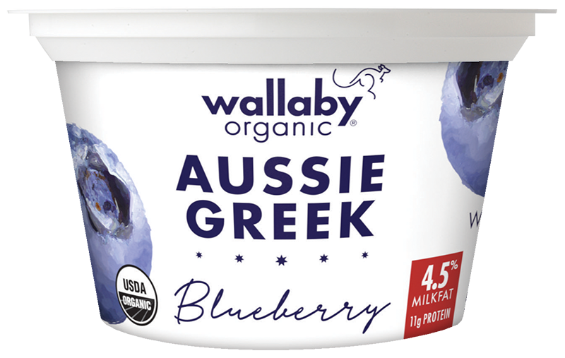 Wallaby Blueberry Organic Whole Milk Greek Yogurt