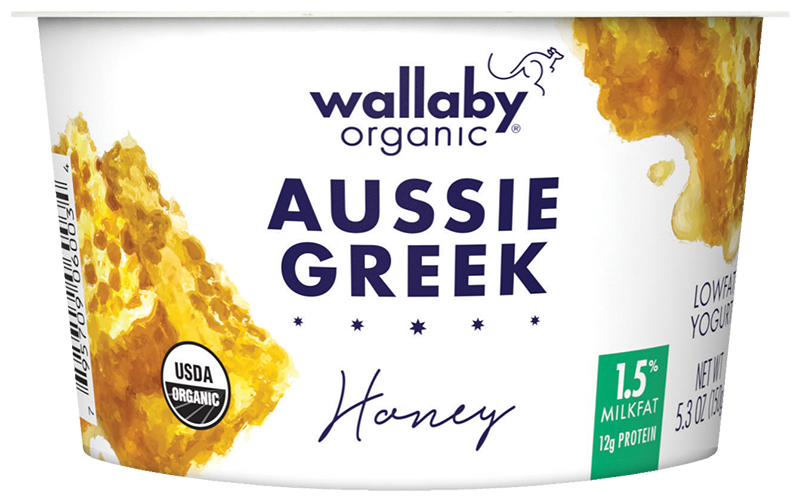 Wallaby Honey Organic Greek Low Fat Yogurt