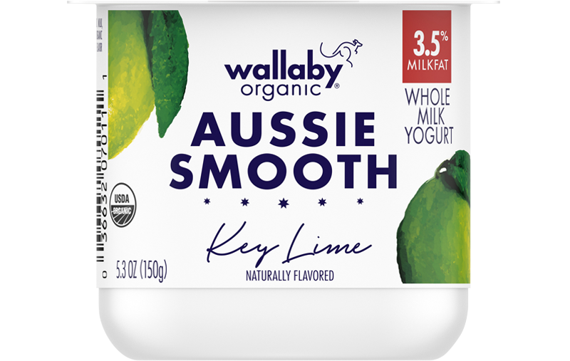 Wallaby Key Lime Organic Whole Milk Yogurt