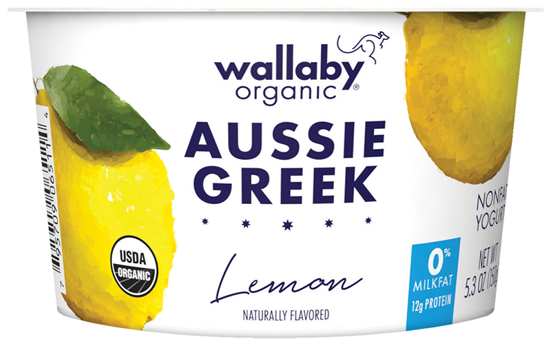 Wallaby Lemon Organic Greek Nonfat Yogurt