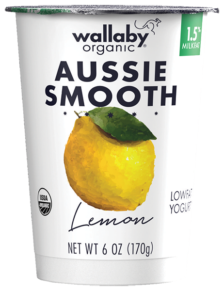 Wallaby Lemon Organic Low Fat Yogurt