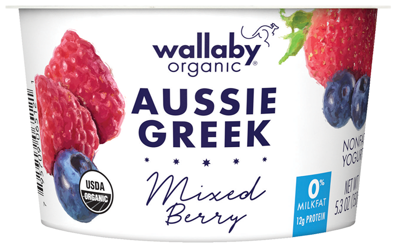 Wallaby Mixed Berry Organic Greek Nonfat Yogurt