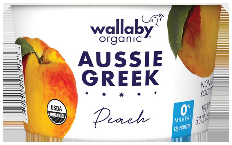 Wallaby Peach Organic Greek Nonfat Yogurt