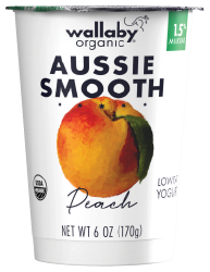 Wallaby Peach Organic Low Fat Yogurt