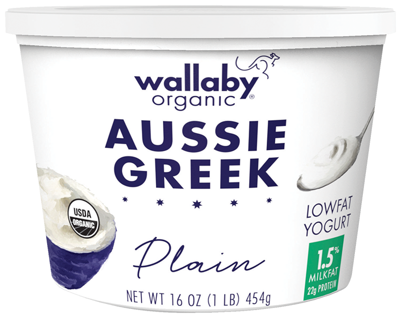 Wallaby Plain Organic Greek Low Fat Yogurt 16oz