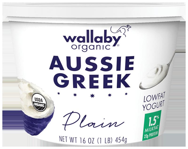 Wallaby Plain Organic Greek Low Fat Yogurt 16oz