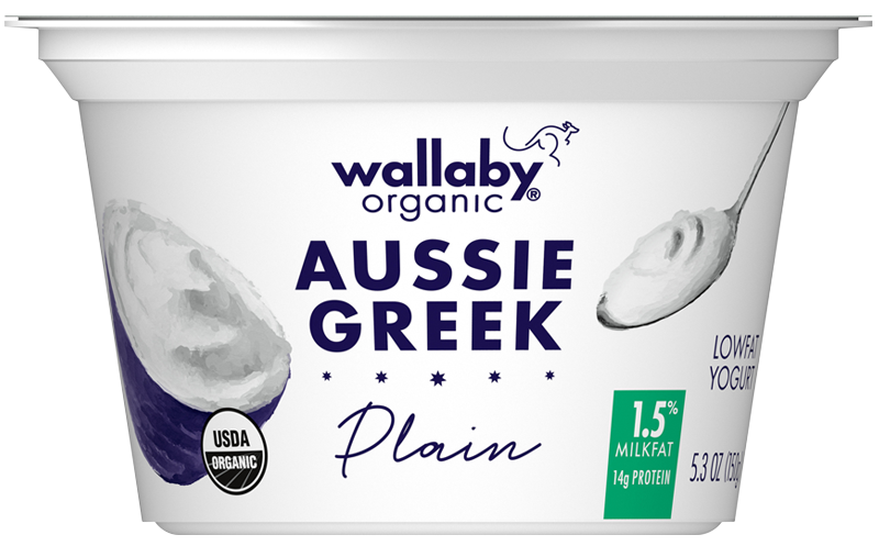 Wallaby Plain Organic Greek Low Fat Yogurt