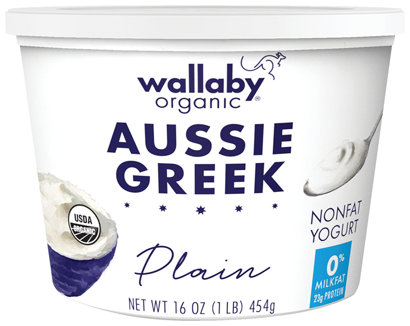 Wallaby Plain Organic Greek Nonfat Yogurt 16oz