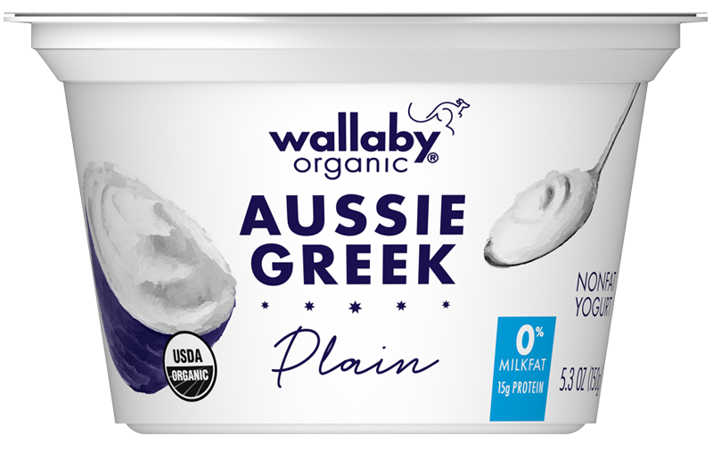 Wallaby Plain Organic Greek Nonfat Yogurt