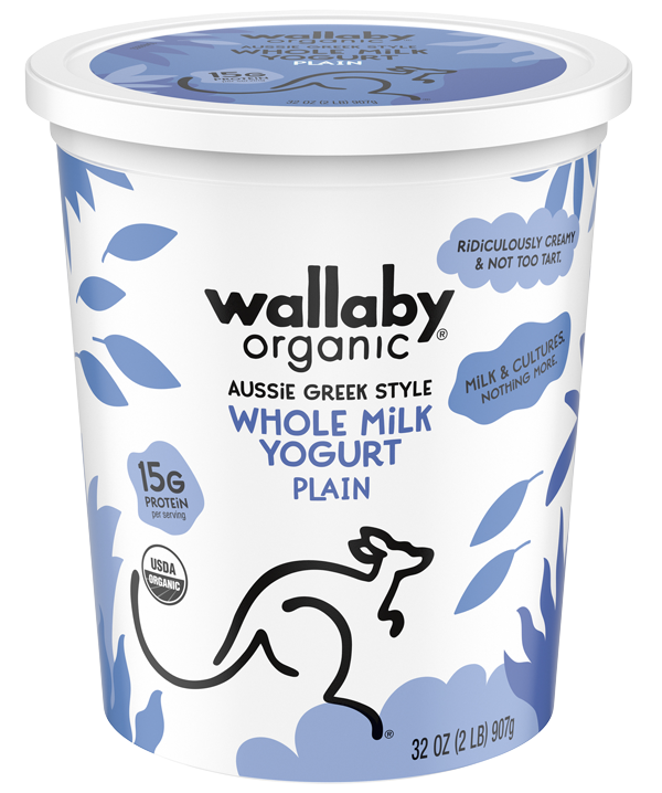 Wallaby Plain Organic Whole Milk Greek Yogurt 32oz