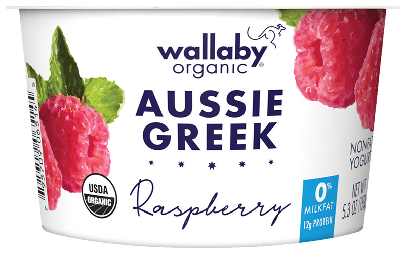 Wallaby Raspberry Organic Greek Nonfat Yogurt