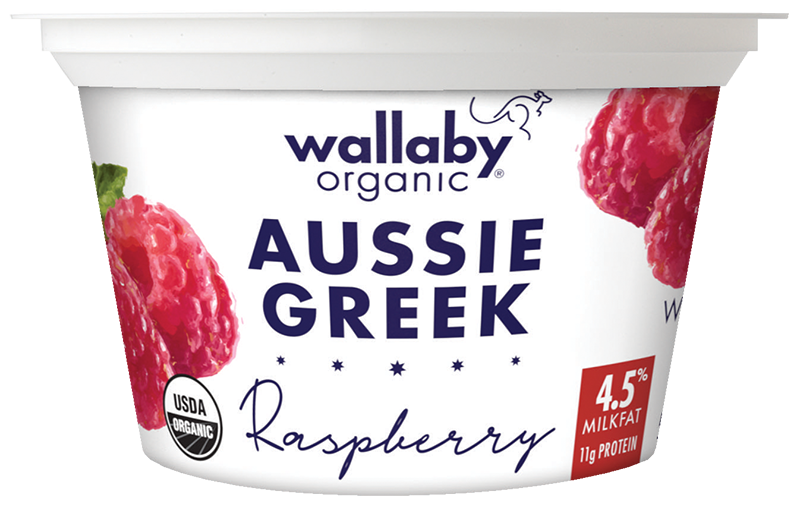 Wallaby Raspberry Organic Whole Milk Greek Yogurt