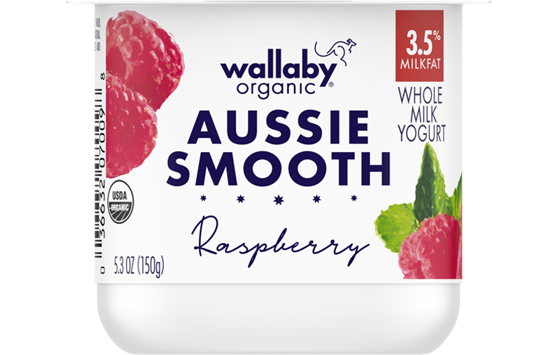 Wallaby Raspberry Organic Whole Milk Yogurt