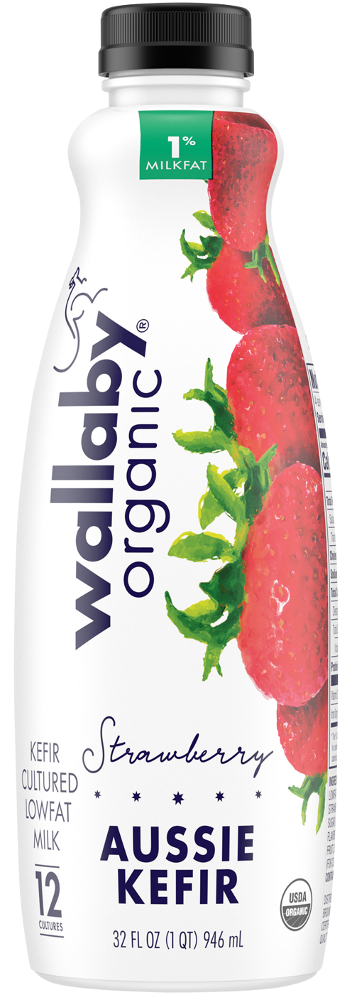 Wallaby Strawberry Organic Low Fat Kefir