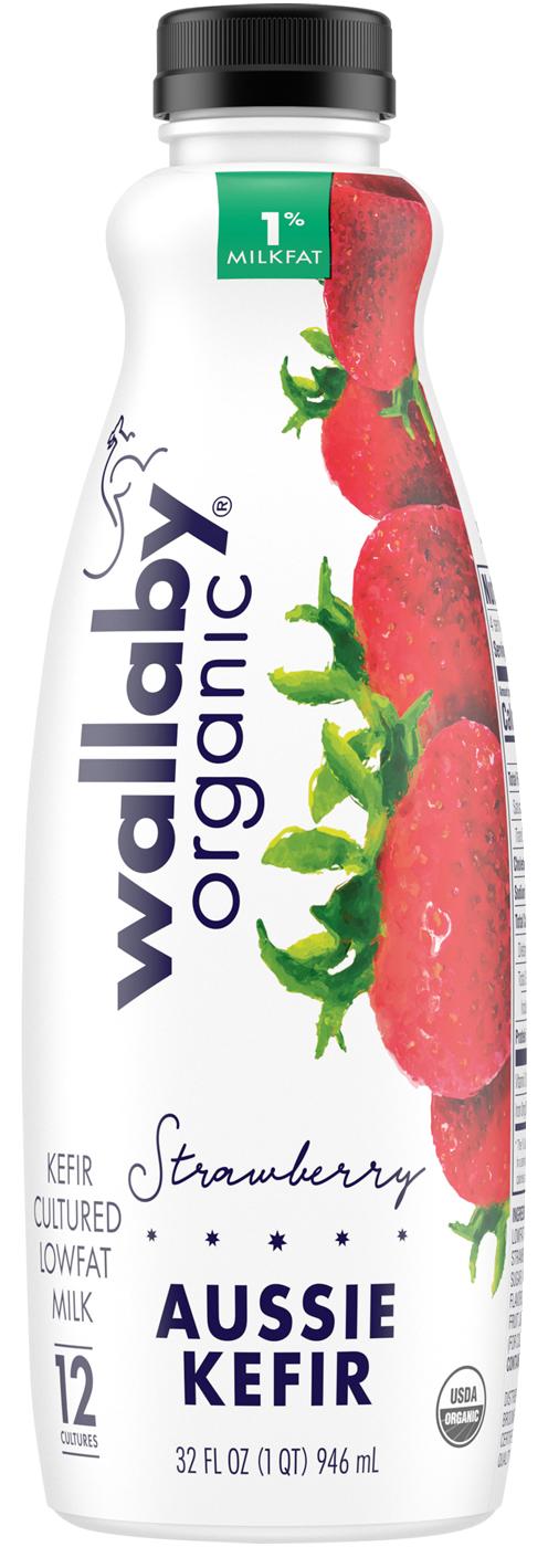 Wallaby Strawberry Organic Low Fat Kefir