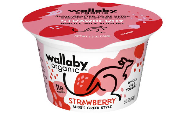 Wallaby Strawberry Organic Whole Milk Greek Yogurt