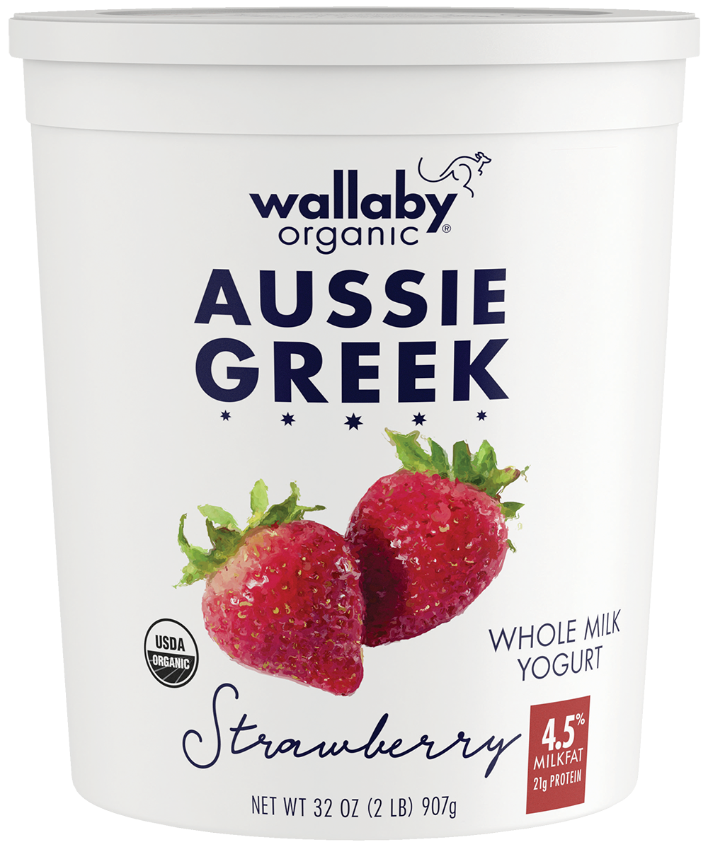 Wallaby Strawberry Organic Whole Milk Greek Yogurt 32oz