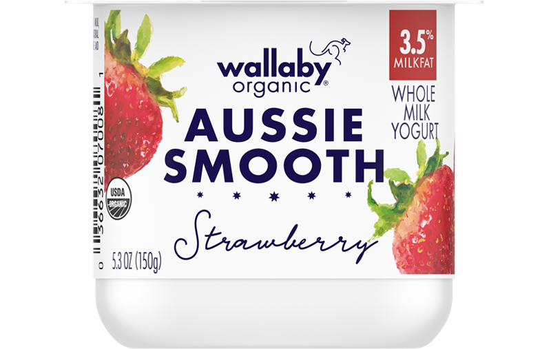 Wallaby Strawberry Organic Whole Milk Yogurt