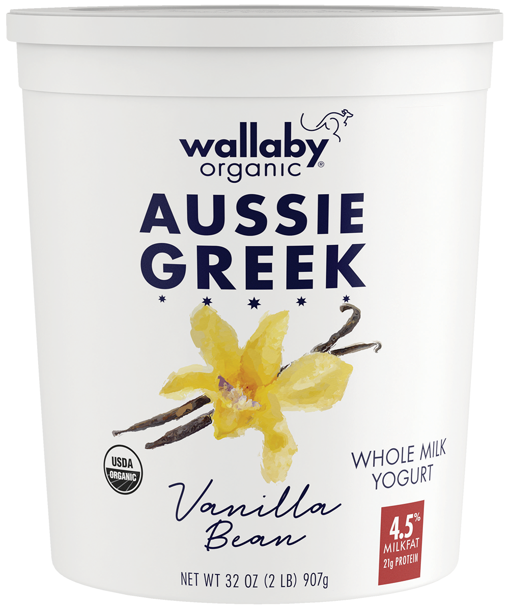 Wallaby Vanilla Bean Organic Whole Milk Greek Yogurt 32oz