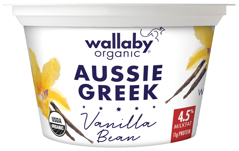 Wallaby Vanilla Bean Organic Whole Milk Greek Yogurt