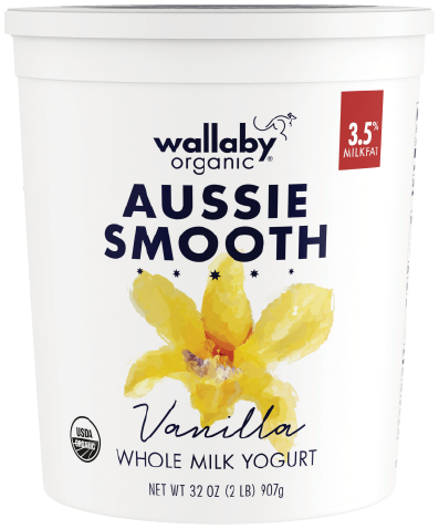 Wallaby Vanilla Organic Whole Milk Yogurt 32oz