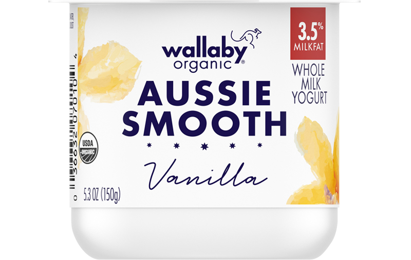Wallaby Vanilla Organic Whole Milk Yogurt