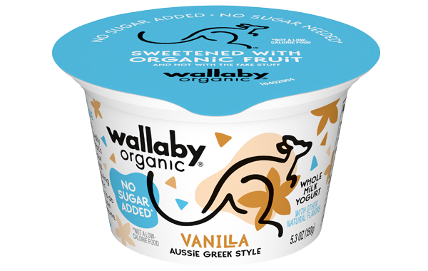 Wallaby Vanilla  Organic Whole Milk Greek Yogurt