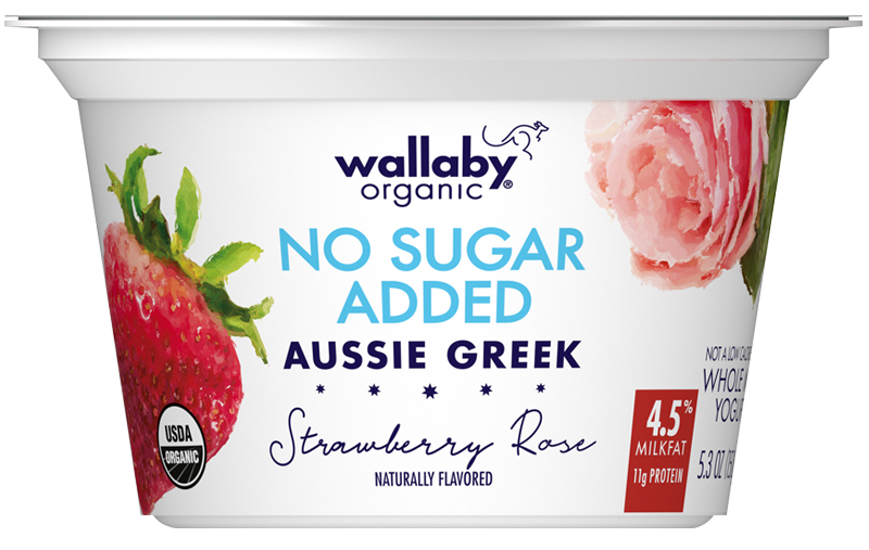 Wallaby Strawberry Rose Organic Whole Milk Greek Yogurt