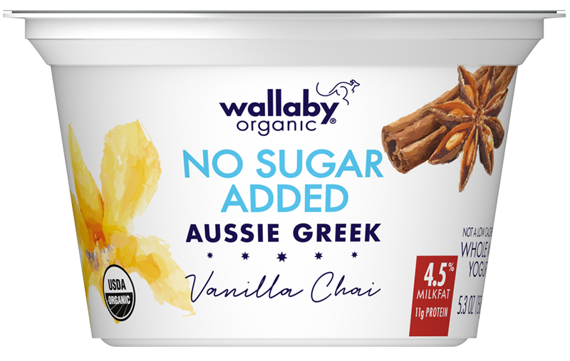 Wallaby Vanilla Chai Organic Whole Milk Greek Yogurt