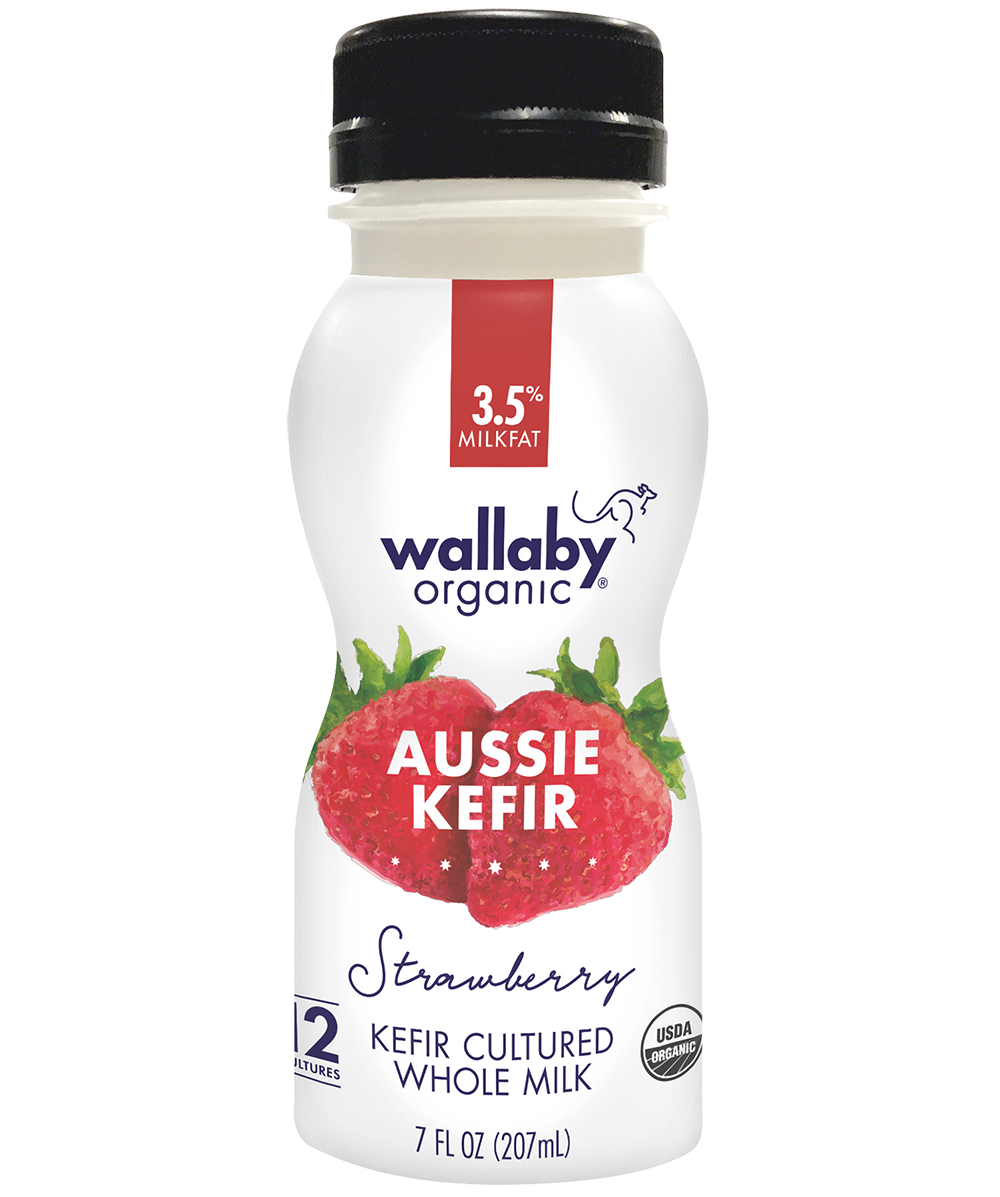 Wallaby Strawberry Organic Whole Milk Kefir